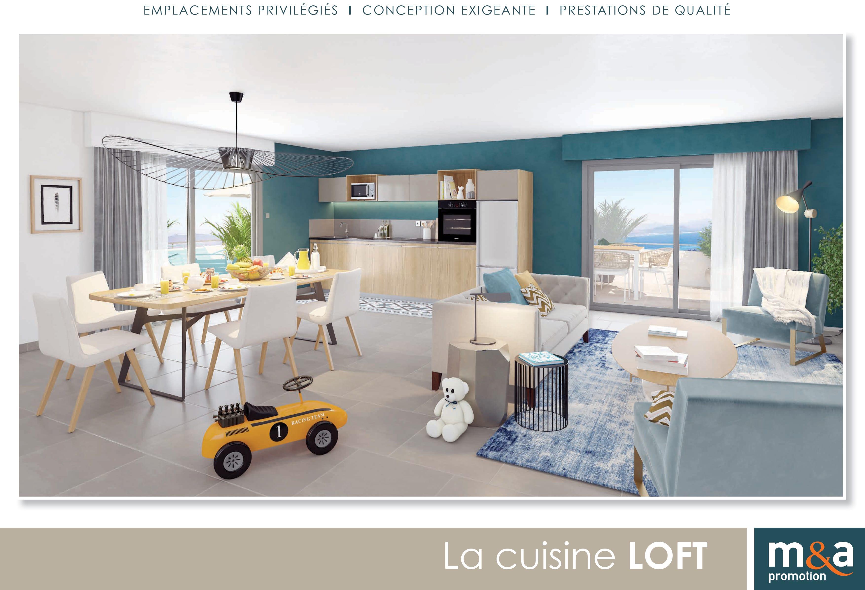 Cuisine LOFT Choix matériaux M&A promotion