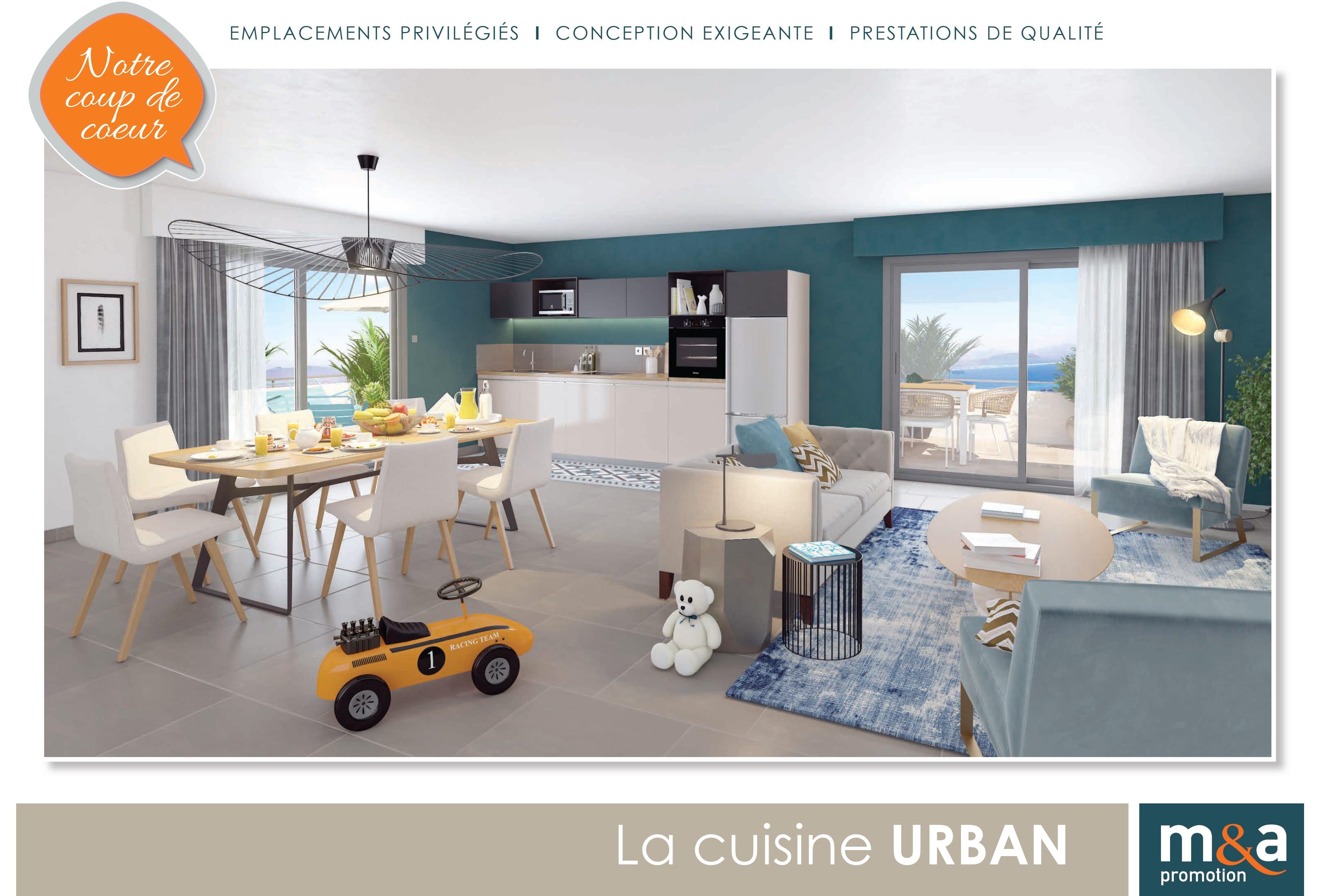 Cuisine URBAN Choix matériaux M&A promotion