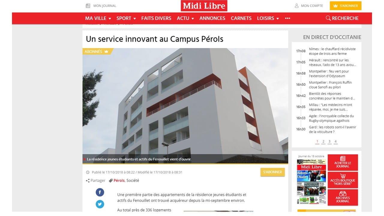Campus Pérols service connecté